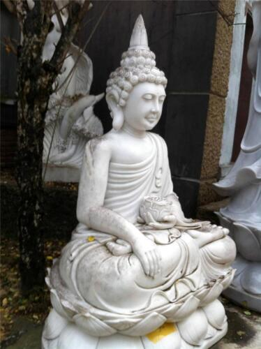 HUGE White Marble Buddha Meditating Peaceful Indoor / Outdoor from VIETNAM