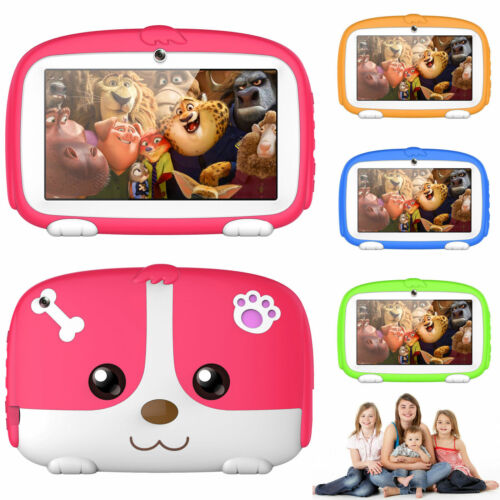 7inch Google Android 6.0 Quad Core WiFi Dual Camera 8GB Kids Tablet PC+Case