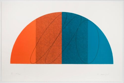 Robert Mangold: Semi-Circle III, 1995. Signed, Limited Edition, Fine Art Print.