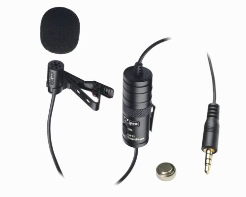 Vidpro XM-L Lavalier Condenser Microphone for Camcorders, DLSR & Video Cameras