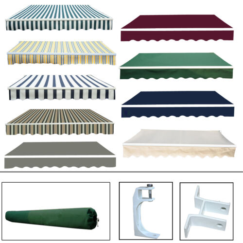 Garden Patio Awning Canopy Sun Shade Shelter Replacement Fabric Greenbay New <br/> Replacemet fabric /  Rain cover /  Bracket