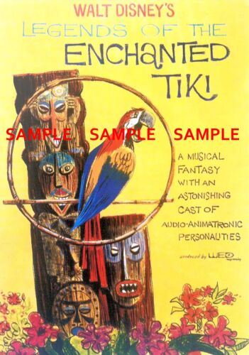 "Vintage Disney ( Enchanted Tiki )11"" x 17"" Collector's Poster Print - B2G1F"
