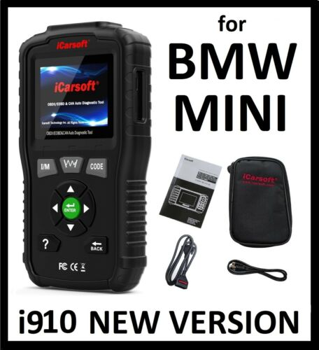 For BMW MINI DIAGNOSTIC SCANNER TOOL SRS ABS READER CODE SCAN iCarsoft BMM v1.0 <br/> READS ABS AIRBAG ENGINE TRANSMISSION BODY A/C AND MORE