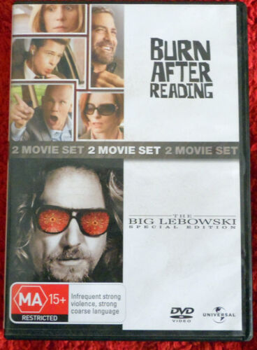 DVD   Burn After Reading + The Big Lebowski /  (M)15+ /  Region 2 and 4