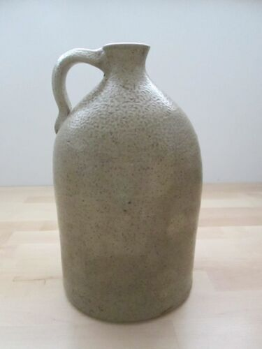 ANTIQUE SALT GLAZE STONEWARE BEEHIVE POTTERY JUG