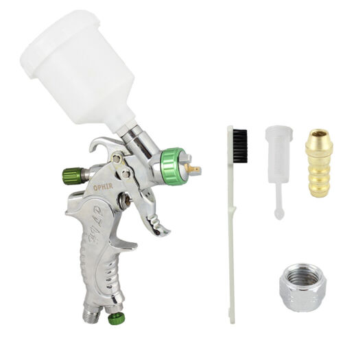 New Hot Mini DETAIL TOUCH-UP HVLP SPRAY GUN 1.0mm TIP Basecoat Auto Paint