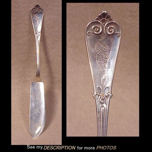 "Antique Tiffany Sterling Silver 8""L Master Butter Knife Beekman Pattern"