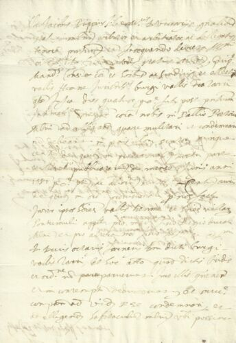 Documento Manoscritto Cinquecentesco del Vicario di Milano Jacopo Trippini 1582