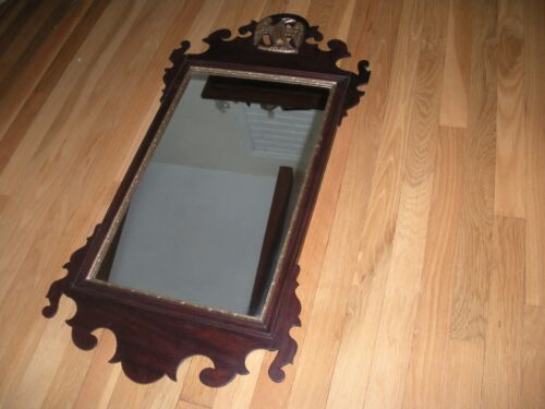 ANTIQUE WOOD FEDERAL MIRROR WITH BRONZE EAGLE GOLD PAINTED USA SALE ONLY