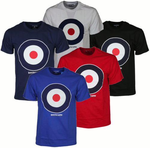 Mens Lambretta TShirt Crew Neck 5Colours Designer Target Tee All Sizes S To XL