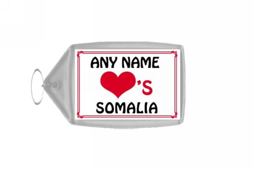 Love Heart Somalia Personalised Keyring