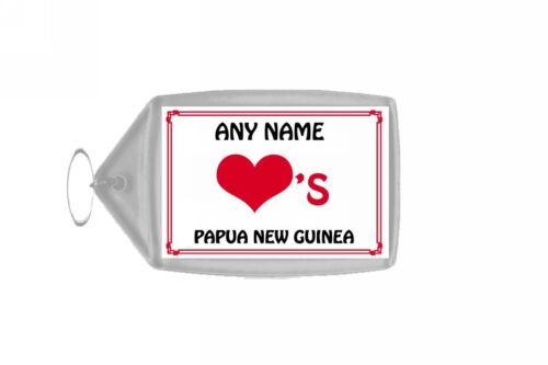 Love Heart Papua New Guinea Personalised Keyring