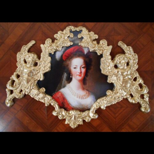 Marie Antoinette portrait. Faux Ormolu.Furniture mounts/decor.