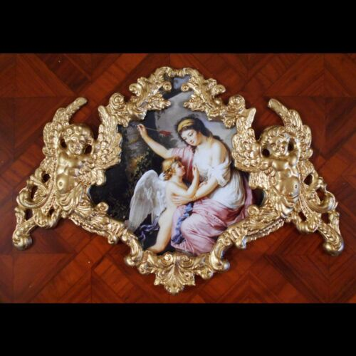 Eros and Woman by Lemoine.Faux ormolu.Furniture mounts/decor.
