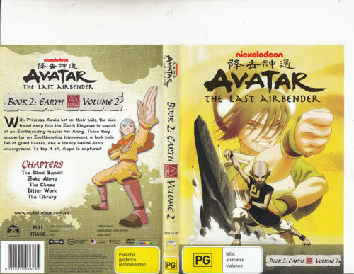 Avatar:The Last Airbender-Book 2:Earth:Vol 2-2005/08-TV Series USA-5 Episode-DVD
