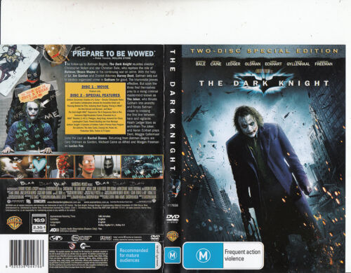 The Dark Knight-2008-Christian Bale-Two-Disc Special Edition-Movie-DVD