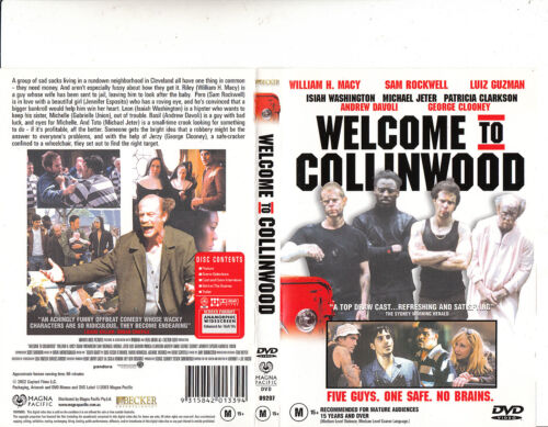 Welcome To Collinwood-2002-William H Macy-Movie-DVD