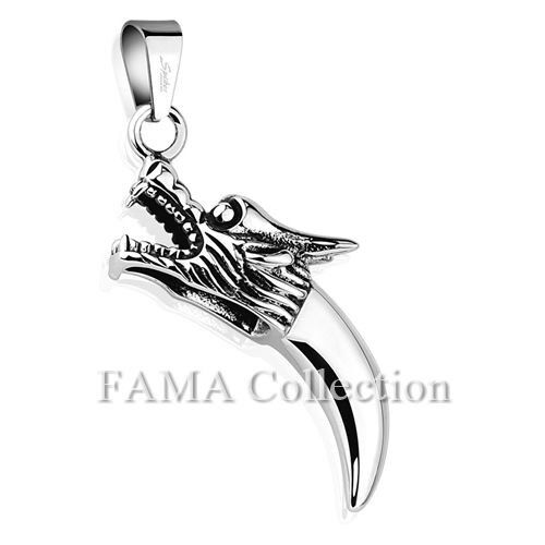 FAMA Dragon Tooth 316L Stainless Steel Pendant