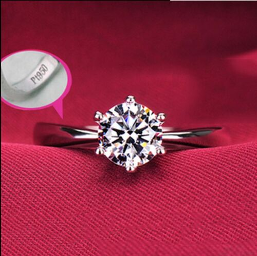 925 Sterling Silver 1.0 Ct Cubic Zirconia Engagement Wedding Promise Ring #5-#9