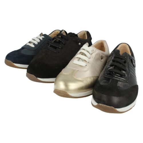 Ladies Easy B Navy / Black / Gold Lace Up Shoes/Trainers  Crystal