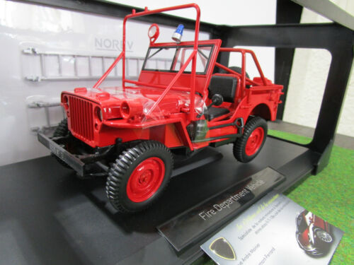 JEEP WILLYS FIRE DEPARTMENT VEHICULE 1988 1/18 NOREV 189012 pompier voiture mini