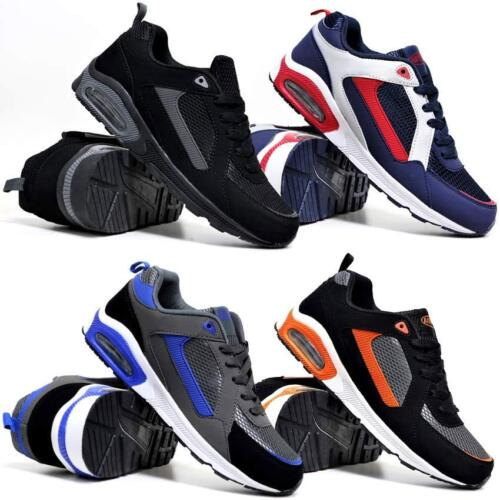Mens Air Shock Absorbing Casual Running Walking Trainers Jogging Gym Shoes Size