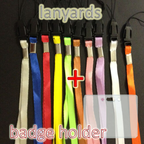 Lanyards and Transparant ID Card Holder Neck Strap Business Name Tag lanyard