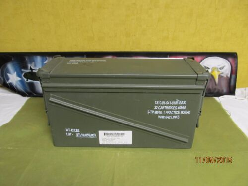 Military Surplus 40mm PA-120 Large Ammo Can Box 100% Steel Excellent 1 eachBoxes & Chests - 165616