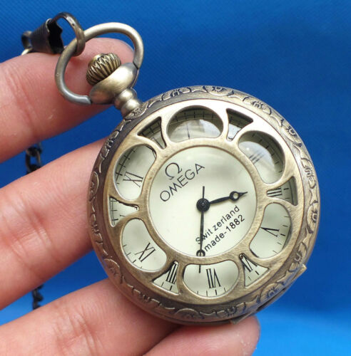 China Tibet collection of bronze sculpture machinery old pocket watch.