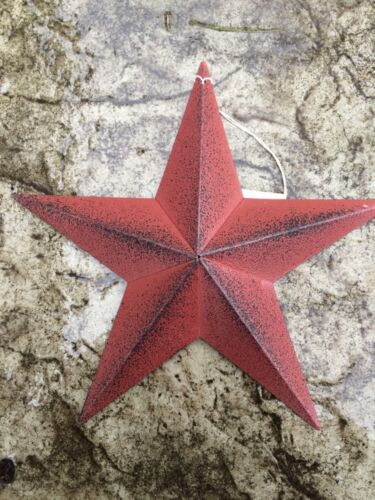 """ONE (1) BURGUNDY BLACK BARN STAR 8"""" PRIMITIVE RUSTIC COUNTRY DISTRESSED"""