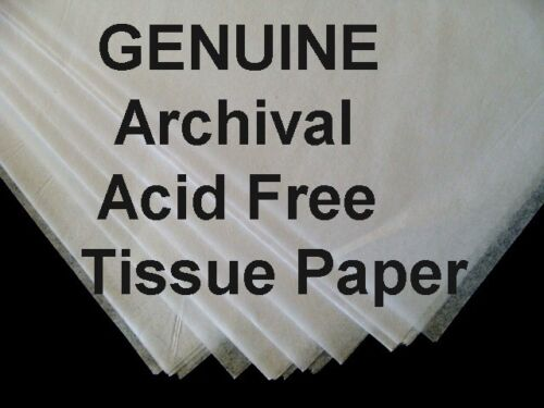 "100 Sheets 15 x 20"" ACID FREE Tissue Paper UNBUFFERED White FREE SHIPPING"