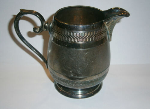 ANTIQUE BRASS/SILVER ART DECO GERMAN WMF 1930's MILK JUG EWER POT PITCHER