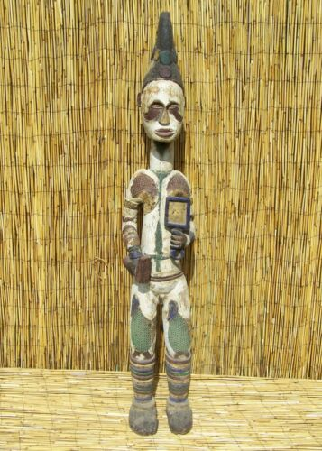 African Igbo Male Ancestor Figure From Nigeria 57""