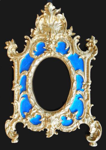 Baroque/Rococo Picture Frame #8. (Blue accent). Wall decor.Antique reproduction