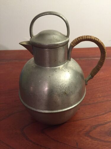 Antique Hand Made Danish Quality Pewter Pot ,made In U S A