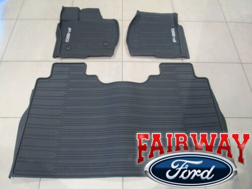 15 thru 20 F-150 OEM Genuine Ford Tray Style Molded Floor Mat Set 3-pc CREW CAB <br/> Brand New OEM Genuine Ford Parts from a Ford Dealership