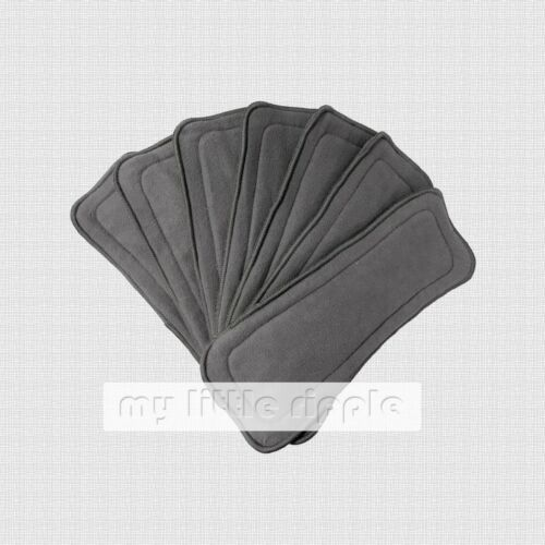 10 x 5-layer Reusable Bamboo Charcoal Inserts / Liners for Modern Cloth Nappies