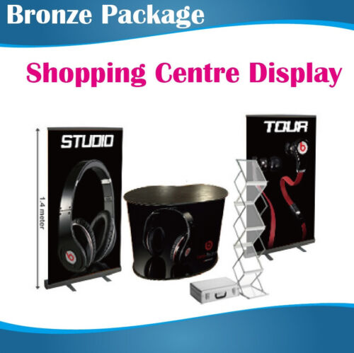 Shopping Centre Display Stands advertising /Exhibition Display Package Bronze