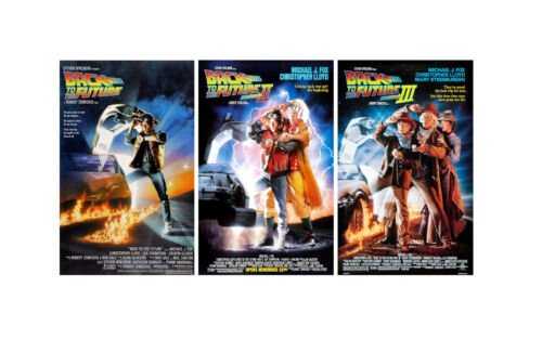 """Back to the Future ( 11"""" X 17"""" ) Movie Collector's Poster Prints ( Set of 3 )"""