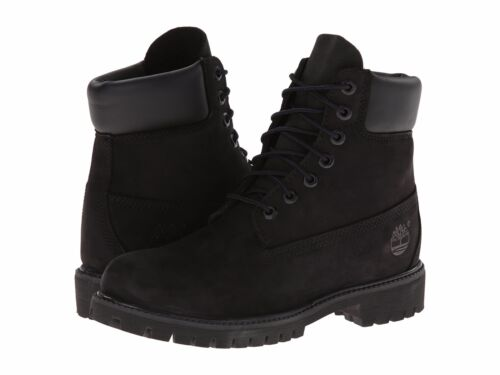 Women's Shoe Timberland 6 Inch Premium Waterproof Lace Up Boots Black 8658A New