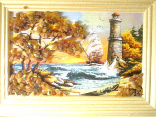 PICTURE OF BALTIC SEA LANDSCAPE WITH BALTIC AMBER