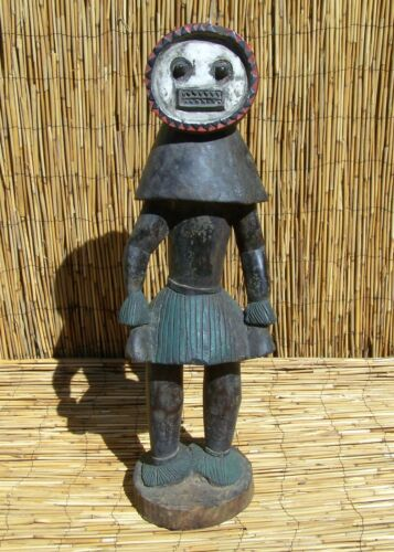 "African Baule Figure From Ivory Coast 31"" Tall"