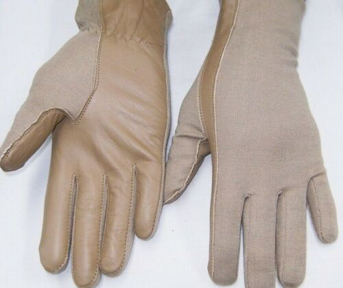 PILOT GLOVES Leather NOMEX A/F Flight Fire Rest Olive Black Tan XS,S,M,L,XL,2X