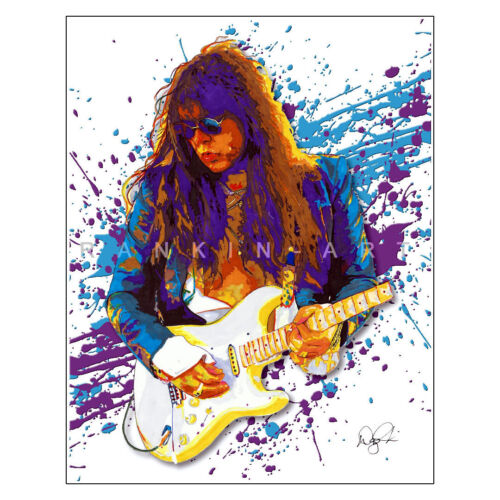 """Yngwie Malmsteen Shred Guitar Marching Out 11x14"""" Music Art Print Poster"""