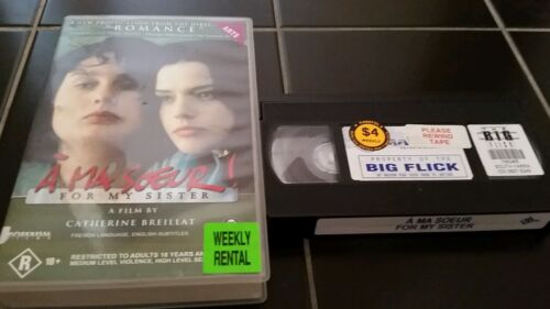 A MA SOEUR!  FOR MY SISTER - FRENCH LANGUAGE,  ENGLISH SUBTITLES  VHS VIDEO