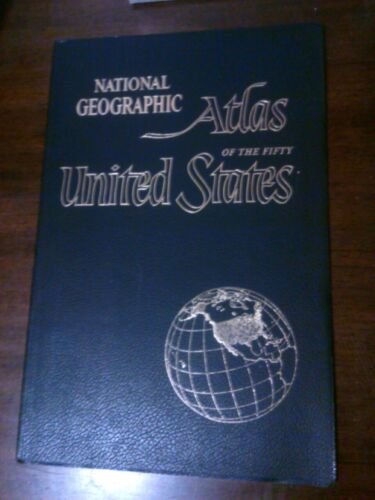 Vintage 1960 National Geographic Atlas USA Jumbo Large Navy 72 Pages NICE
