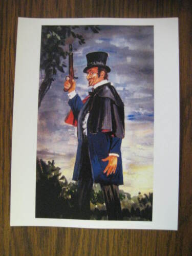 """Disney Haunted Mansion Dueling Ghosts Painting [ Right ] 8.5"""" x 11"""""""