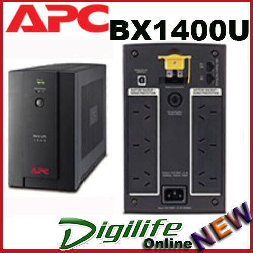 APC Power Saving Back UPS 1400VA, 230V, AVR, 6 Australian Sockets BX1400U-AZ