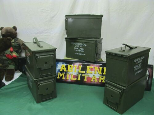 6 pack 50 Cal Ammo Can Steel Storage M2A1 6 Cans NO RUST INSIDE EXCELLENTBoxes & Chests - 165616
