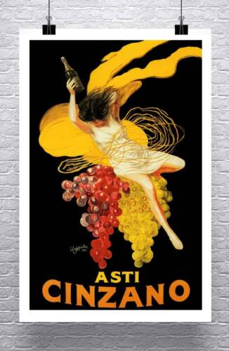 Asti Cinzano Vintage Liquor Advertising Poster Rolled Canvas Giclee 24x36 in.